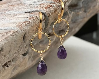 Dainty Amethyst Earrings