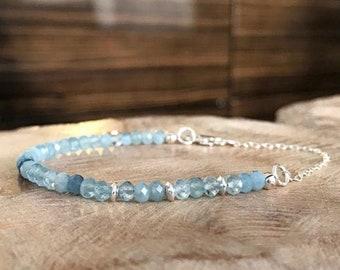 Dainty Aquamarine Bracelet
