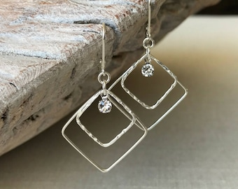 Medium Square Hoop Earrings