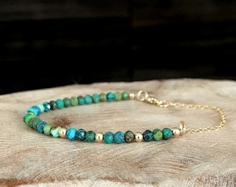 Turquoise Bracelet in Gold or Silver
