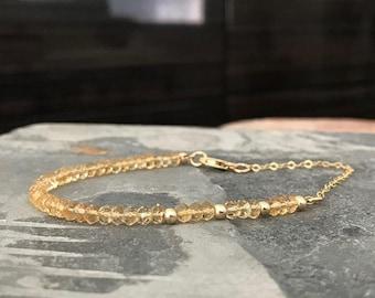 Dainty Citrine Bracelet