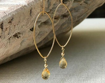 Gold Cirine Earrings