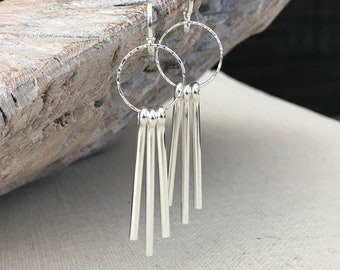 Silver Spike Earrings