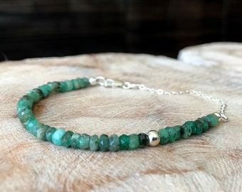 Emerald Bracelet in Gold or Silver