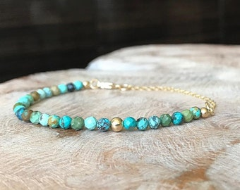 Hubei Turquoise Bracelet in Gold or Silver