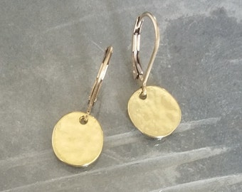 Small Gold Disc Earrings