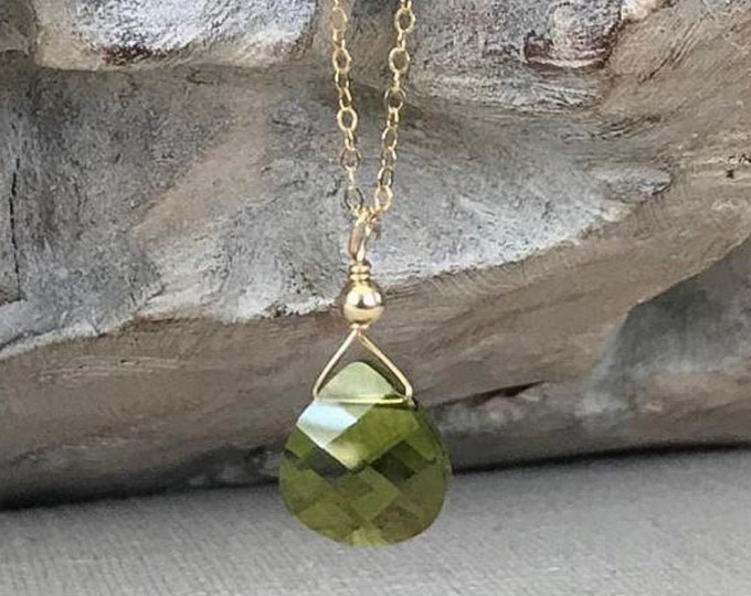 Featured listing image: Olivine Pendant Necklace