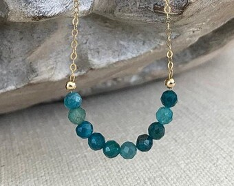 Apatite Necklace in Gold or Silver