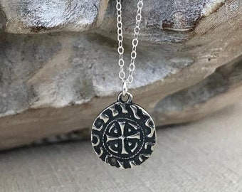 Small Silver St Benedict Cross Necklace