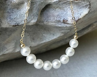 Pearl Necklace in Gold or Silver