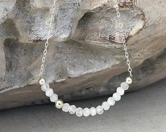 Moonstone Necklace in Gold or Silver