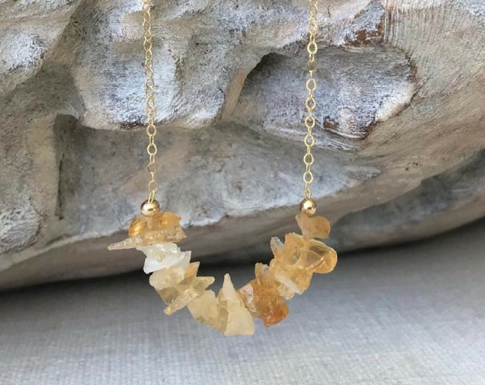 Featured listing image: Raw Citrine Necklace
