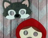 6d59a5128 Red Riding Hood and Big bad wolf masks