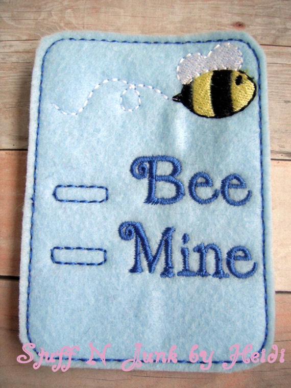 Needle Felted Bee Mine Valentine Bee And Custom Greeting!.............Free Shipping In The U.S.