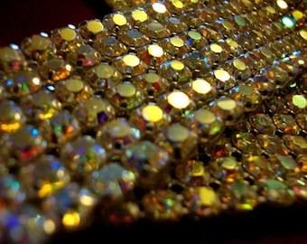Iridescent Rhinestone Mesh Piece Jewelry Supplies Sewing Supplies