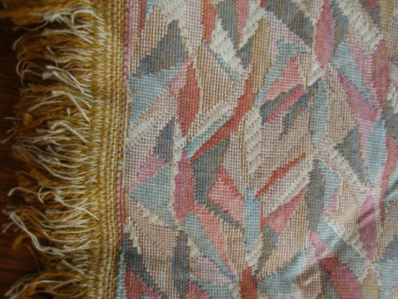 53 Wide Vintage Geometric Upholstery Fabric For Chair Cushions Ottomans Benches Settee Abstract Fabric Print St