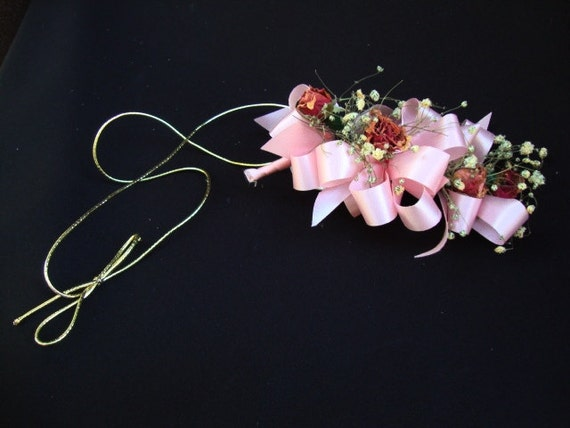 Vintage Trockene Blume Brautstrauss Handgelenk Blumenstrauss Etsy