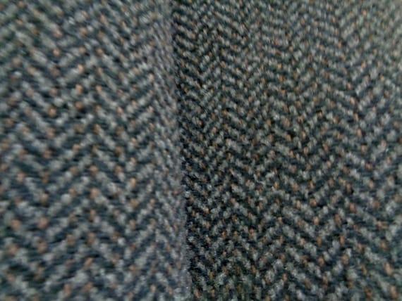 42 Wide Grey Fabric Nubby Gray Herringbone Pattern Etsy