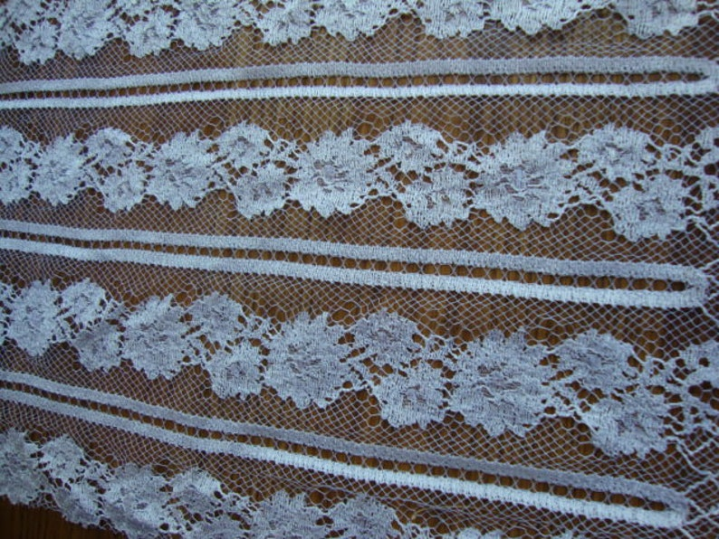 A Piece of Vintage French White Tulle Lace Wedding Lace Bridal Lace Vintage Wedding  Flapper Dress Edwardian Style Made in France 103