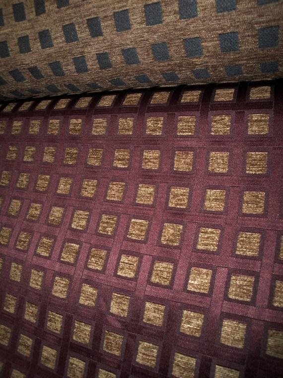 56 Wide Vintage Geometric Print Upholstery Fabric Mod Etsy