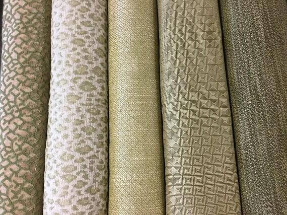 Upholstery Indoor Outdoor Sage Green Lime Cream Beige Coral  08c2fd4d0