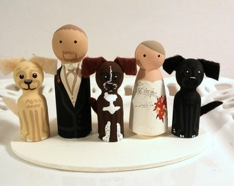 Cake Cuties Custom Wedding Cake Toppers- Cutie Family