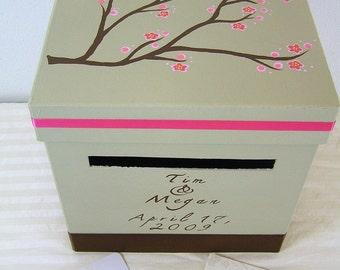 Custom Wedding Reception Card Box- Megan Design