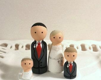 Cake Cuties Custom Wedding Cake Toppers plus two Kid Cuties