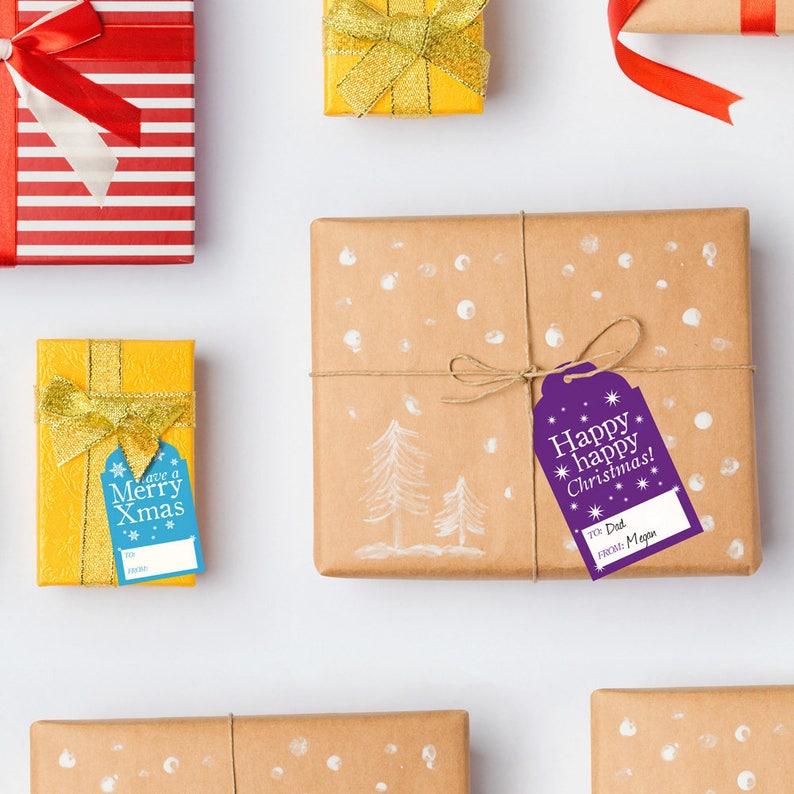 graphic regarding Printable Christmas Gift Labels referred to as Printable Xmas Reward Tags, Printable Christmas Colorful Trip Tag Labels