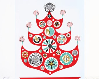 Printable Christmas Cards DIY Holiday Greetings Scandinavian Style
