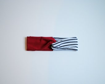FREE US SHIPPING/ Fourth of July Twisted Turban Headband/ Twisted Headband/ Independence Day/ Red White and Blue Headband