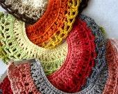 CROCHET PATTERN  Tribal Necklace Pattern - crochet and bead necklace, bib necklace, bohemian, ethnic, gypsy jewelry,native american, tribal