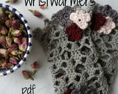 PDF Crochet Pattern Wrist warmers - crocheted wrist warmers, crochet warmers, crochet cuffs, a photo tutorial
