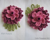 CROCHET PATTERN Crocheted Flowers - Sunny flowers pattern, thin petalled flowers, photo-tutorial, crochet instructions