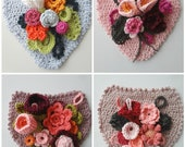 Floral Banner CROCHET pattern, flower banner, crochet banner, crochet flower banner, home decor, nursery decor, bohemian banner,flower decor