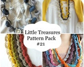 Crochet PDF Pattern Discount Pack - #21 PDF Patterns,crochet bohemian necklaces, boho necklaces, boho chic, puff necklaces, tribal jewelry