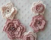 CROCHET PATTERN Joanna's Roses Necklace, irish roses, crochet necklace, crochet pattern,digital pattern, mori necklace, romantic, bohemian