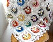 DIGITAL CROCHET PATTERN Owl Crochet Baby Blanket,photo tutorial, crochet owl pattern, crochet owl, baby blanket, afghan, heirloom