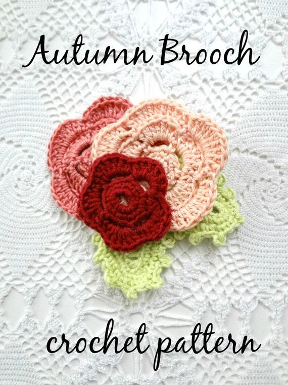 Crochet Pattern Irish Rose Brooch Pattern Crocheted Rose Etsy