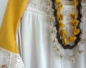 CROCHET PATTERN Bohemian Flowers Necklaces, crocheted necklace, ruffled necklace, flower necklace, gradient necklace, DIY, crochet pattern