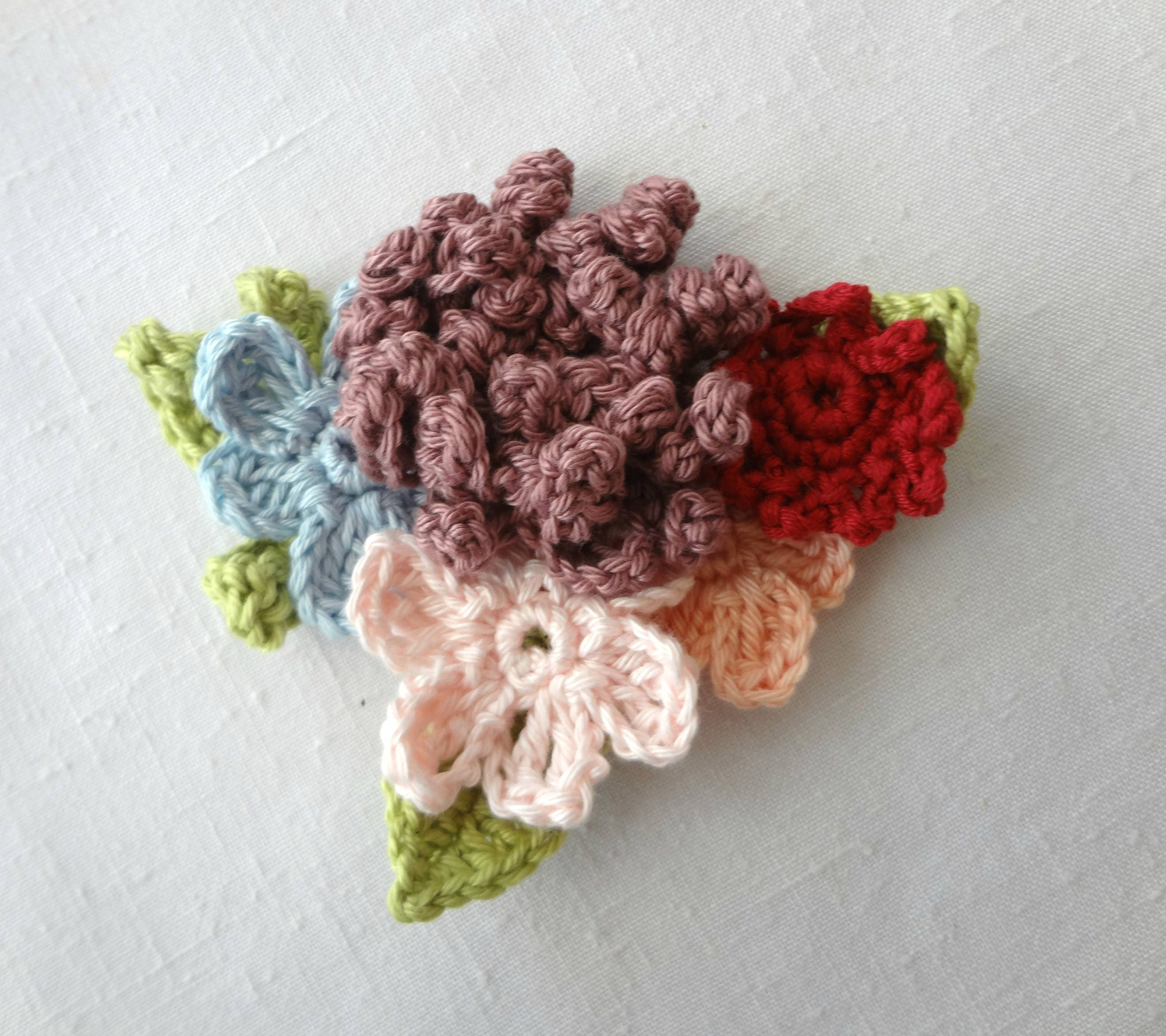 Crochet pattern romantic bohemian brooch crocheted etsy image 2 izmirmasajfo
