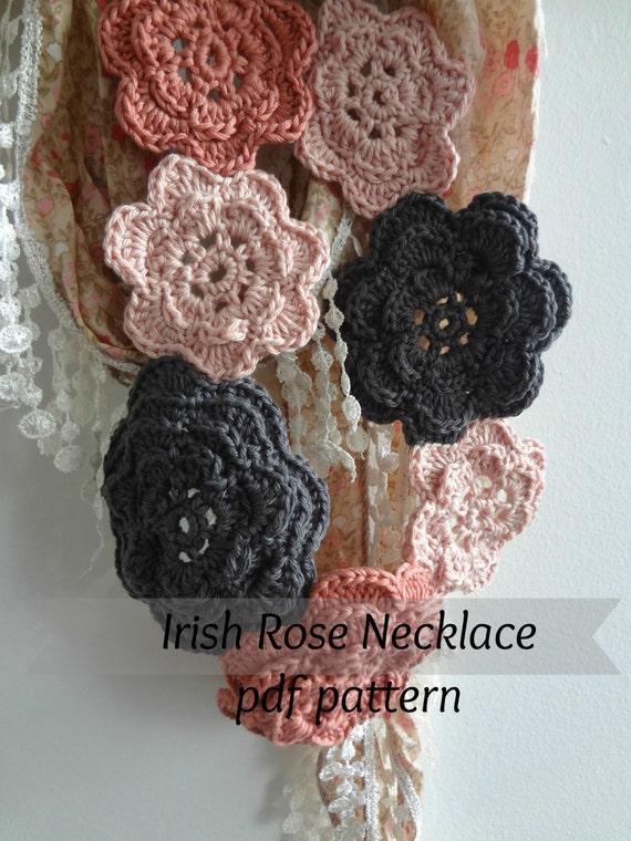 Digital Crochet Pattern Irish Rose Crochet Patterns Crochet Etsy