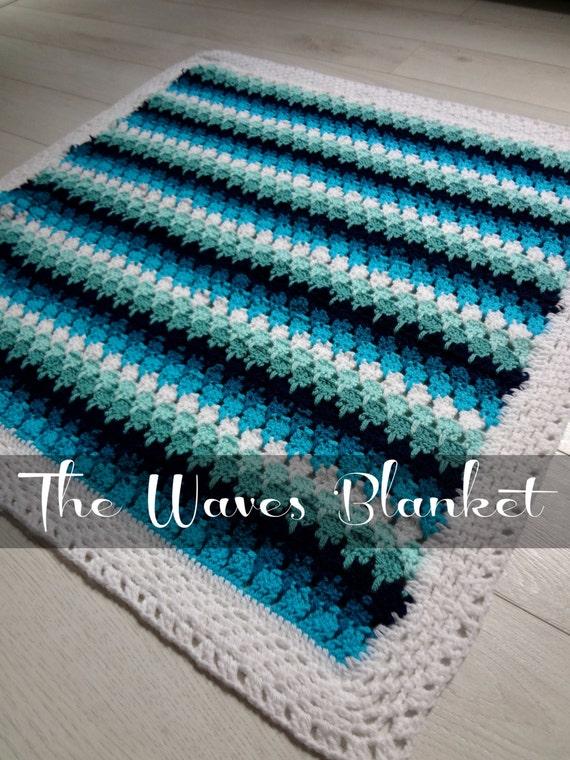 Crochet Pattern Baby Blanket Waves And Pebbles Crochet Etsy