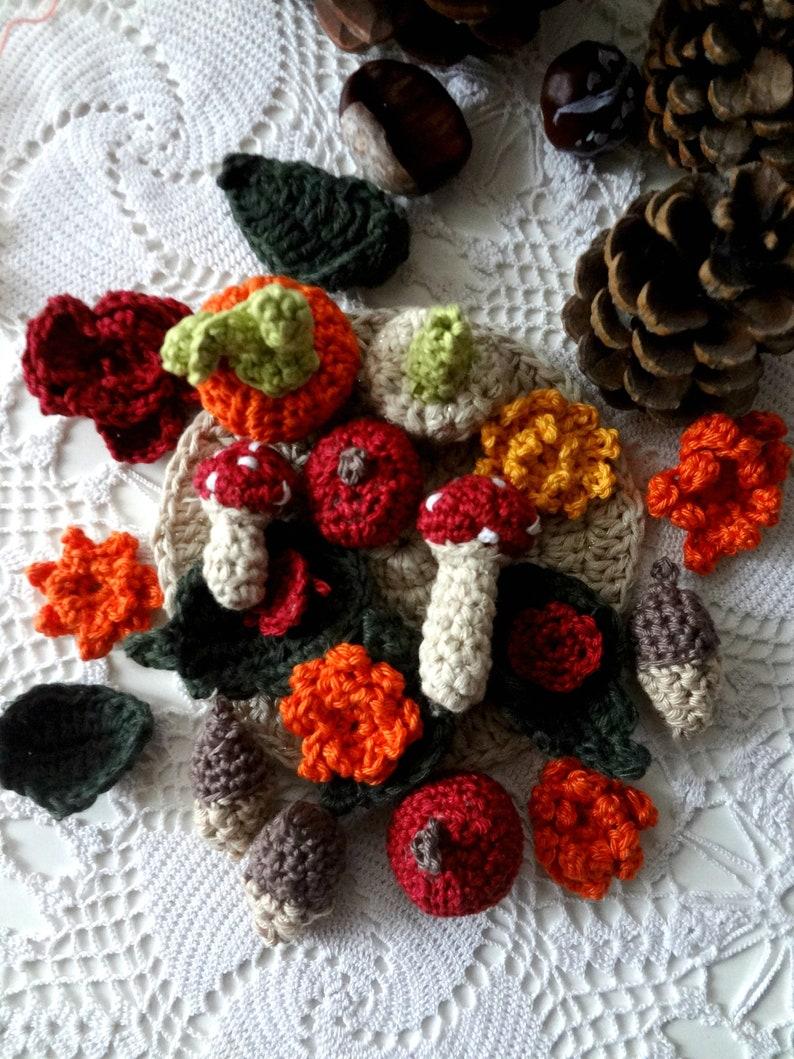 Crochet Woodland Coasters Pattern crochet coasterleaf image 0