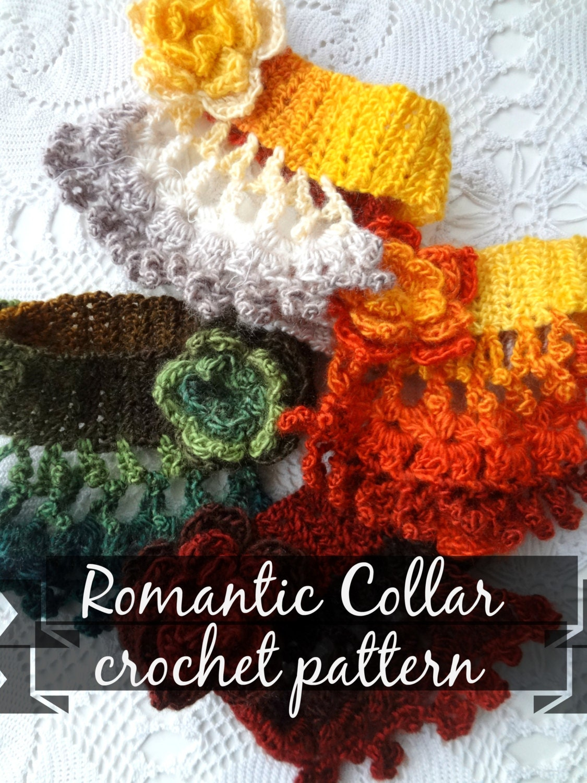 Crochet Pattern Romantic Choker Collar Crochet Etsy