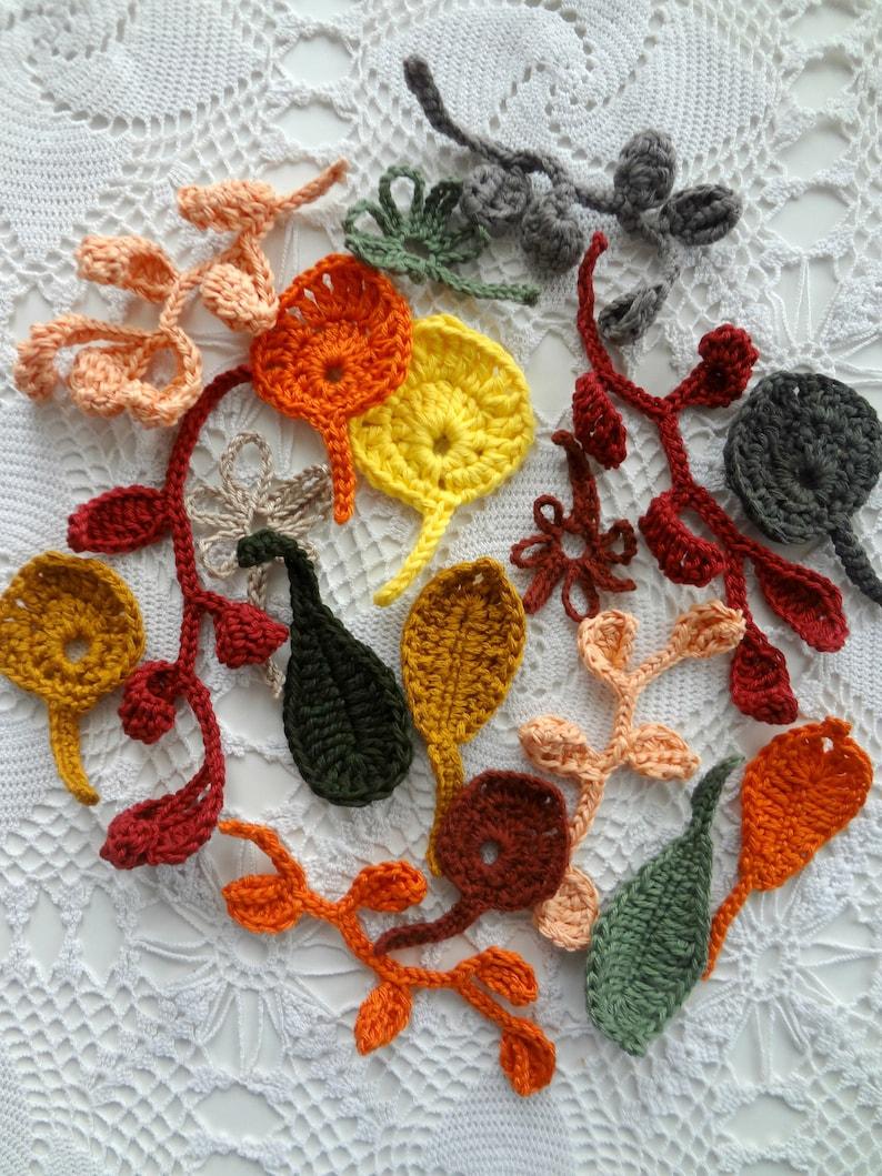 Crochet Autumnal Leaves crochet leaf leaf pattern fall image 0