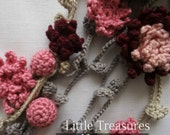 CROCHET PATTERN Flower Girl Headband Crochet Pattern - crocheted headband,flower headband, a photo tutorial, crocheted flowers