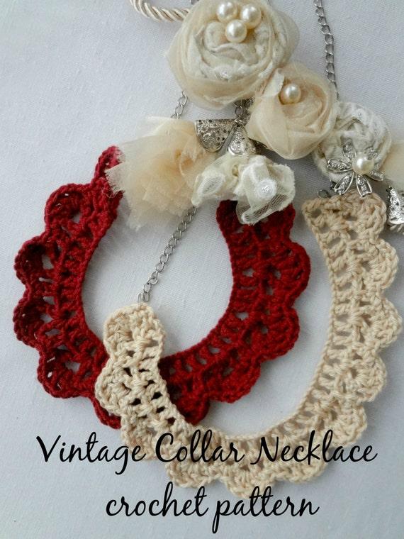 Crochet Pattern Vintage Collar Crochet Ladder Pattern Etsy