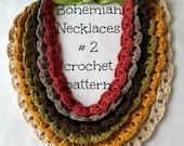DIGITAL CROCHET PATTERN Puff Stitch Bohemian Necklace and Bracelet #2 - crochet ladder pattern, tribal necklaces,instant download