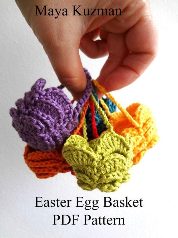 PATRÓN ganchillo huevo de Pascua ganchillo cesta acogedor | Etsy